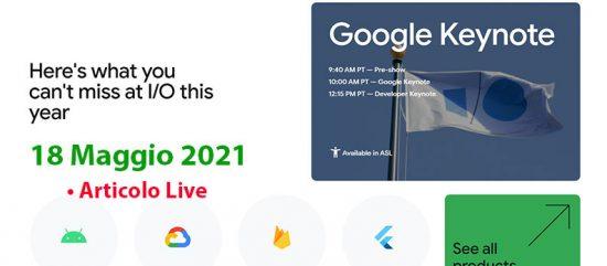 Diretta Google Keynote I/O 2021